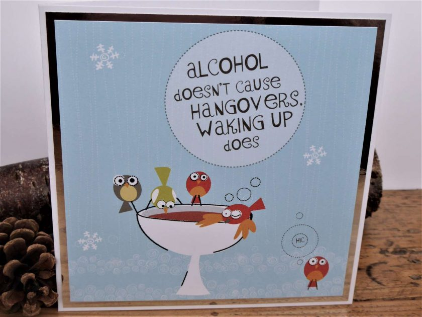 C3589 - Christmas Card - Alcohol doesn't cause... 1
