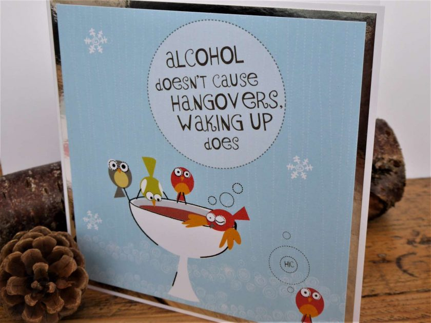C3589 - Christmas Card - Alcohol doesn't cause... 3