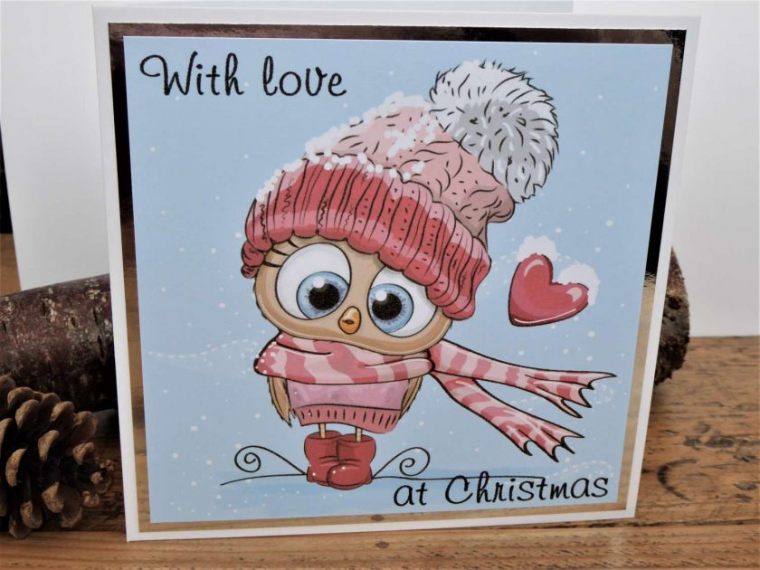 C3599 - With love at Christmas card 1