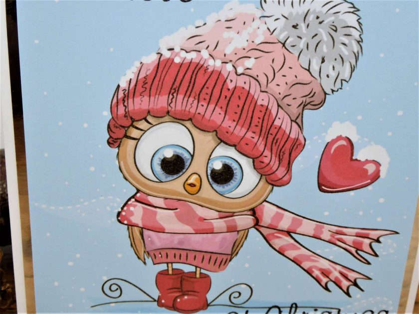 C3599 - With love at Christmas card 4