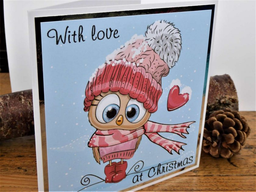 C3599 - With love at Christmas card 3