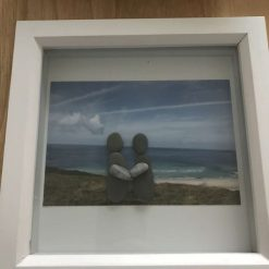 Handmade and personalised couple pebble art