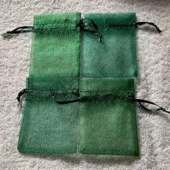 50 Christmas Green Small Organza Gift Bags 8