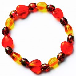 Red Hearts Stretch Bangle