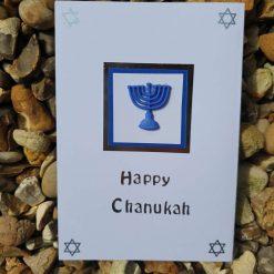Chanukah card - blue Menorah