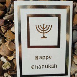 Chanukah card - Gold Menorah