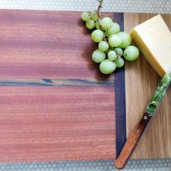 Multi wood face & edge grain cheeseboard