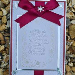 Christmas card ribbon and bow design