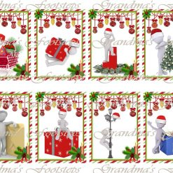 Christmas Guys, Journal Ephemera, Labels, Tags, Junk Journal, Card Making, Journal Cards, ATC, Card Toppers.