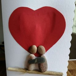 Couple love heart card