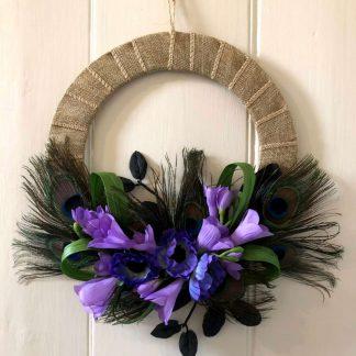 'Penelope' faux flower wreath