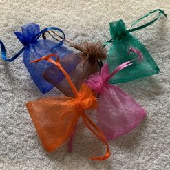 50 Brightly Coloured Small Organza Gift Bags 9