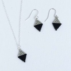Handmade matching necklace and earrings set