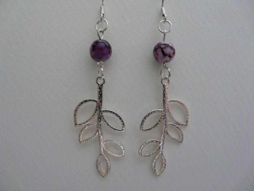 Leaf Outline Earrings 1