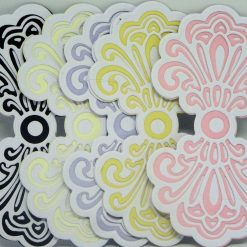 Shaped Layered Card Topper to fit 6 x 6 inch card.No 22 Yellow