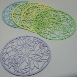10 x Filigree Circles, 2 of each colour, Card Making Embellishments, Toppers