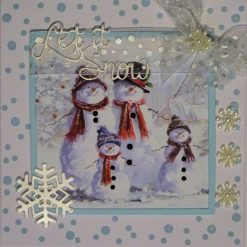 3D, Layered 6 x 6 Exclusive Designer Card  With Box. Christmas