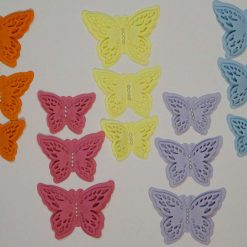 15 x Die Cut Butterflies, one of each size/colour, Card Making Embellishments, Toppers Set 3