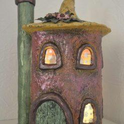 Indoor Light up Fairy House/Night light- Bronze