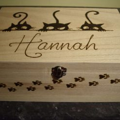 Pyrography Personalised Wooden Box, large 2