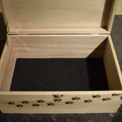 Pyrography Personalised Wooden Box, large 3