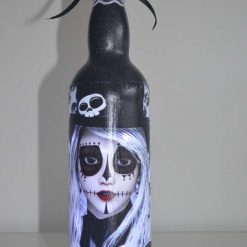 Deathly Beauties/Day of the Dead bottle lights/Dark turquoise
