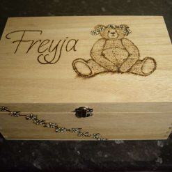 Pyrography Personalised Wooden Box, large 1