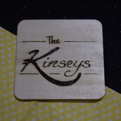 Pyrography Decorated Wooden Coaster 6