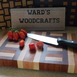 Abstract wooden end grain chopping board