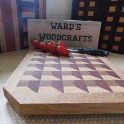 3D box effect wooden end grain chopping board