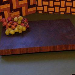 Premium grade American black Walnut wooden end grain chopping board