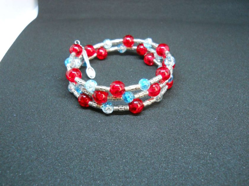 Memory wire bracelet/fruity touch 1