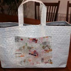 Handbag made from recycled plastics - 'The Jiffy Bag'