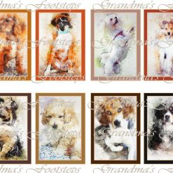 Dogs, Journal Ephemera, Labels, Tags, Junk Journal, Card Making, Journal Cards, ATC, Card Toppers.
