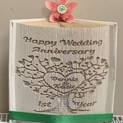 Anniversary Tree Book Fold