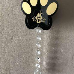Pet memorial sun  catcher Black paw