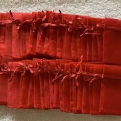 50 Christmas Red Small Organza Gift Bags 11