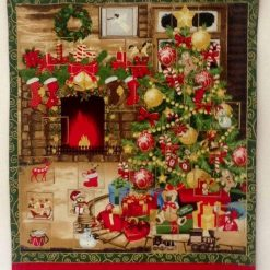 Bespoke Order 🎄 ADVENT CALENDAR 🎄 WARMING & WELCOMING FIRESIDE 🎄 24 Pockets 🎄 Embellishments 🎄 Padded & Quilted