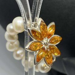 Baltic Amber & Freshwater Pearl Necklace 5