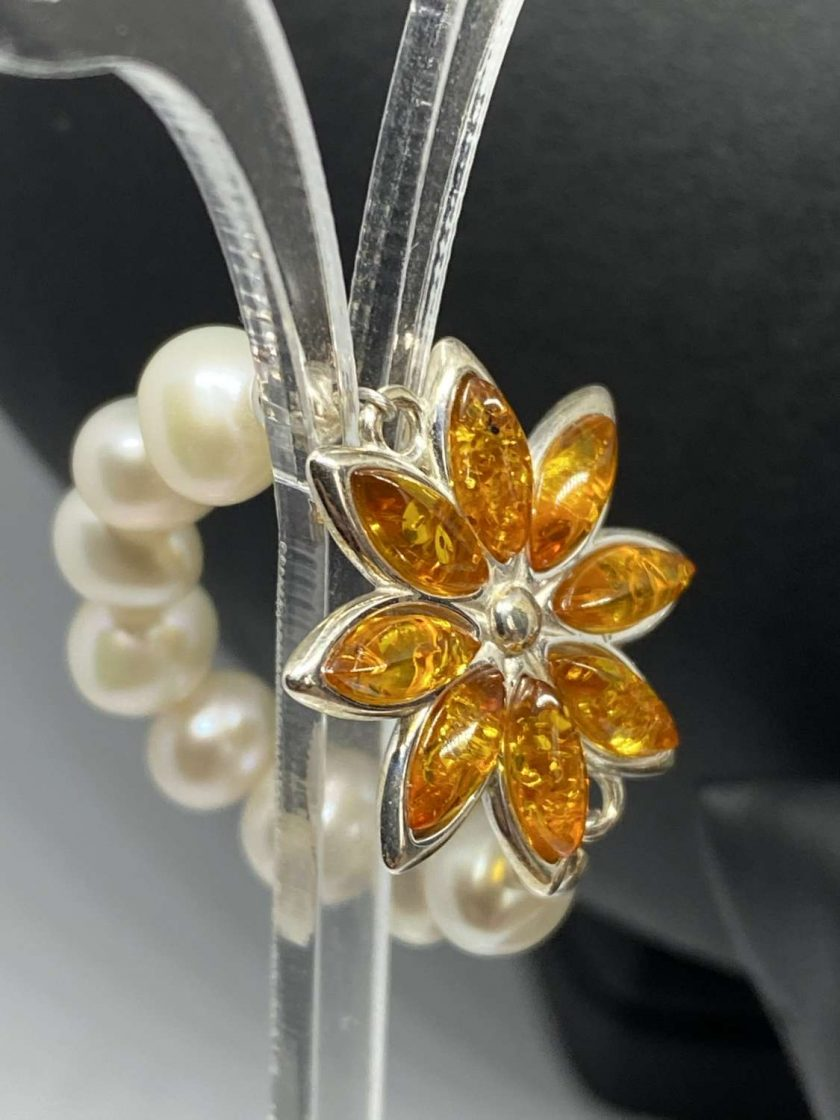 Baltic Amber & Freshwater Pearl Necklace 2