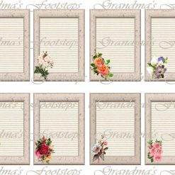 Flower Frames, Journal Ephemera, Labels, Tags, Junk Journal, Card Making, Journal Cards, ATC, Card Toppers.