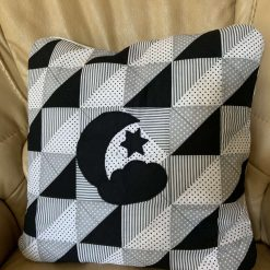 Black and White patchwork cushion case