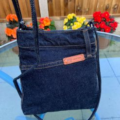 """""""Small cross body bag from recycled jeans """""""