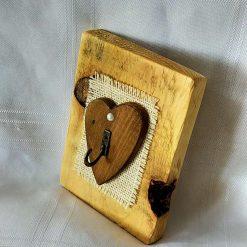 'Wooden Heart' Key Holder
