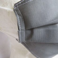 Hand Made Face Mask - One Size - Fully Washable - in smart plain grey 12