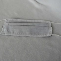 Hand Made Face Mask - One Size - Fully Washable - in smart plain grey 15