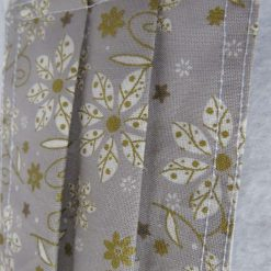 Hand Made Face Mask - One Size - Fully Washable -in pretty grey White and gold Christmas theme 12
