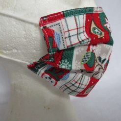 Hand Made Face Mask - One Size - Fully Washable - in a lovely Christmas OWL Theme 12