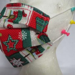 Hand Made Face Mask - One Size - Fully Washable - in a lovely Christmas OWL Theme 11