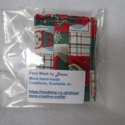 Hand Made Face Mask - One Size - Fully Washable - in a lovely Christmas OWL Theme 8
